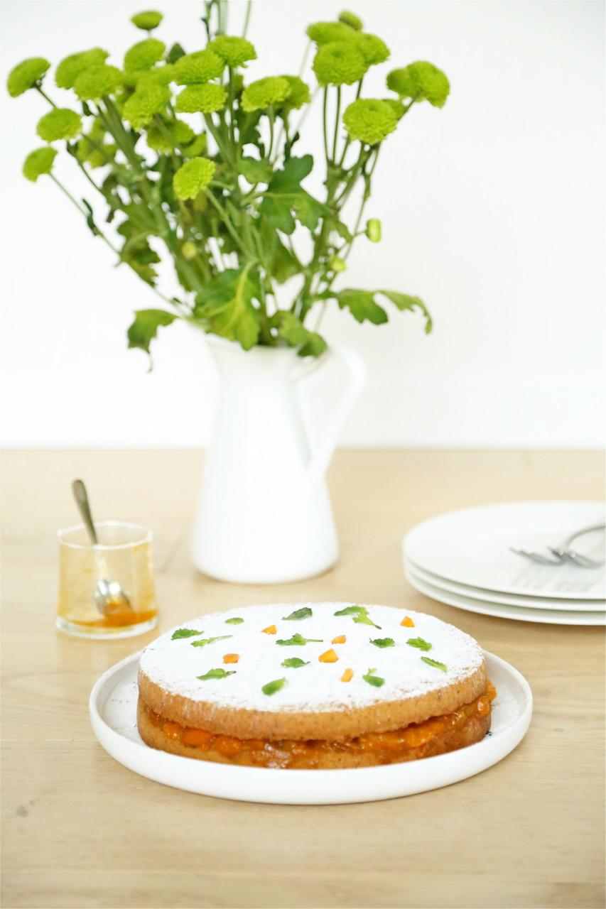 torta di pistacchio_composta di albicocche