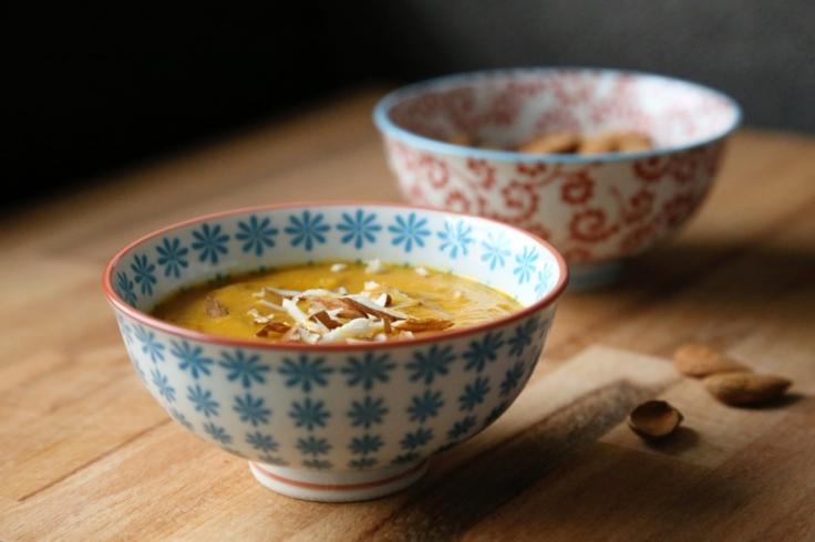 crema carote_zenzero_mandorle carrot_ginger_almond_soup