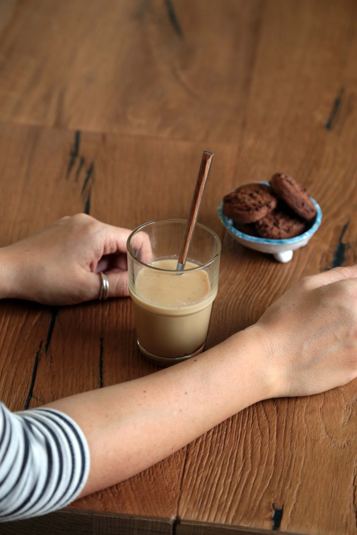 caramel soy latte