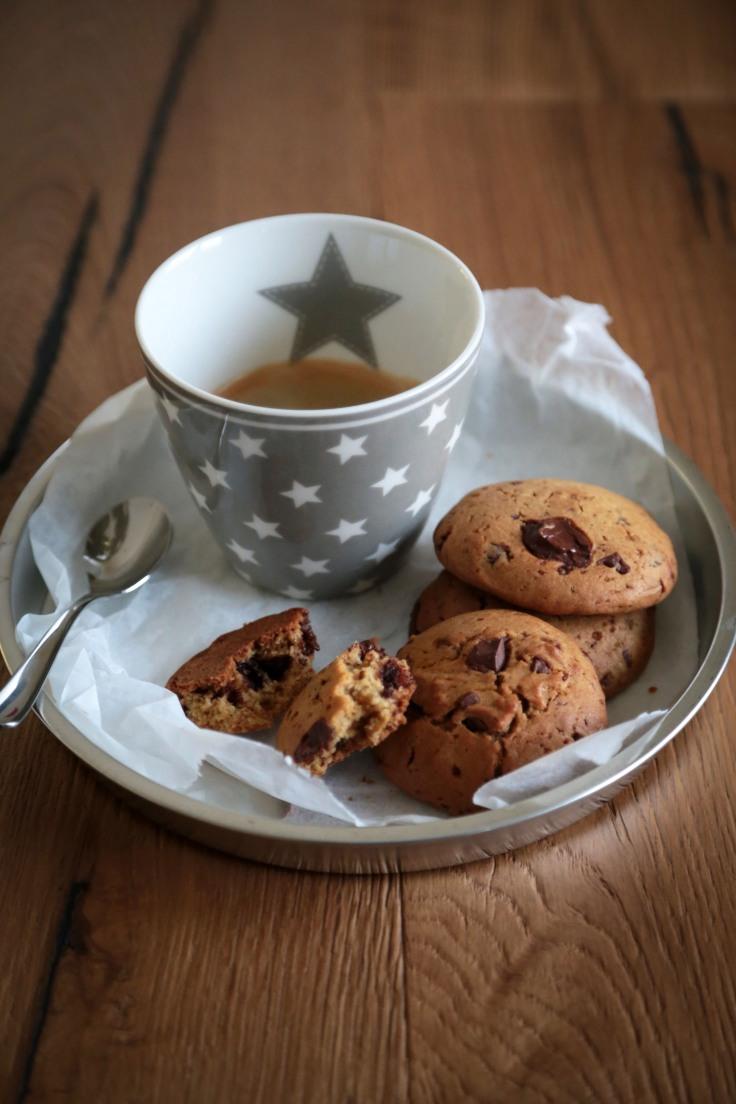 cookies cioccolato e olio d'oliva