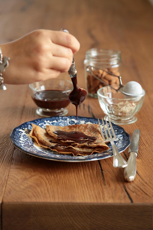 crepes di marroni e salsa al cacao